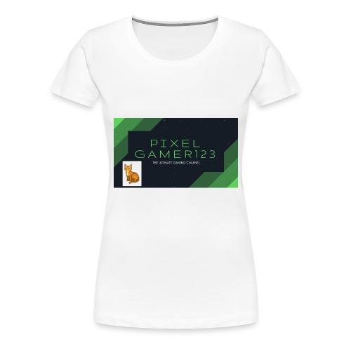 PIXEL GAMER123 HEADER - Women's Premium T-Shirt