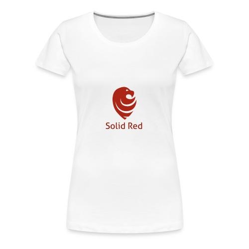 Solid Red - Frauen Premium T-Shirt