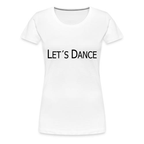 lets dance logo neu schrift 10cm - Frauen Premium T-Shirt
