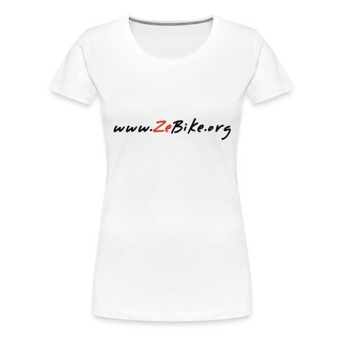 wwwzebikeorg s - T-shirt Premium Femme