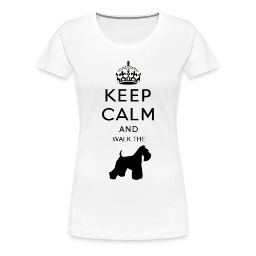 keep calm and walk the kaeppaenae vamu - Naisten premium t-paita