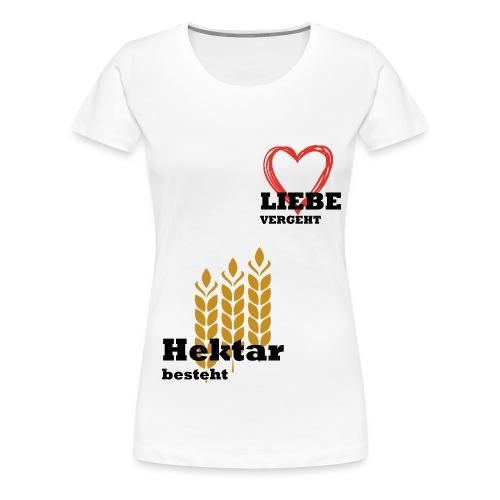 Hektar_einzeln - Frauen Premium T-Shirt