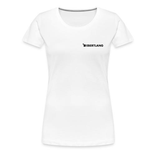 logo ebertlang einfarbig - Frauen Premium T-Shirt