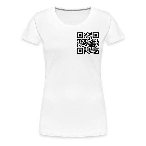 QR Code - Frauen Premium T-Shirt