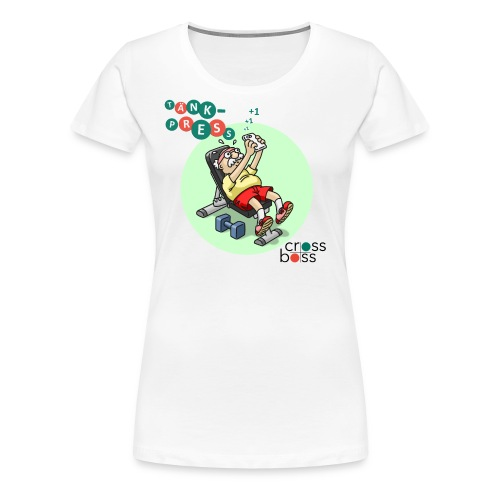 Tänkpress (ljus bakgrund) - Premium-T-shirt dam