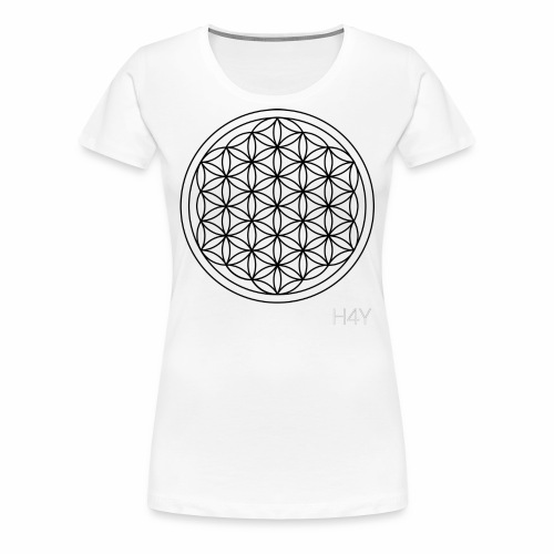 Flower Of Life - This Design Will Heal You - Dame premium T-shirt