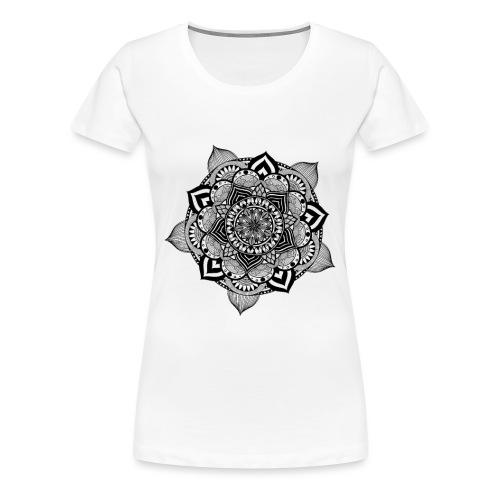 mandala fiore di loto - Maglietta Premium da donna