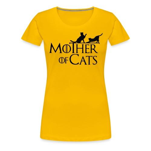 1 texto gatos eng png - Camiseta premium mujer