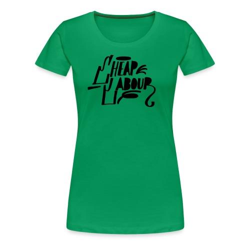 Cheap Labour Basic Logo (Black on White) - Premium-T-shirt dam