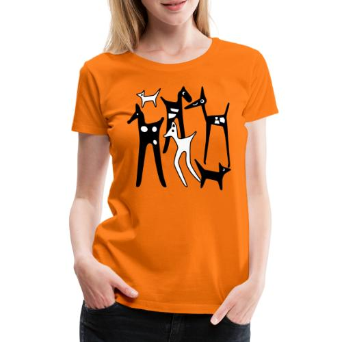 stylized_animals - Maglietta Premium da donna
