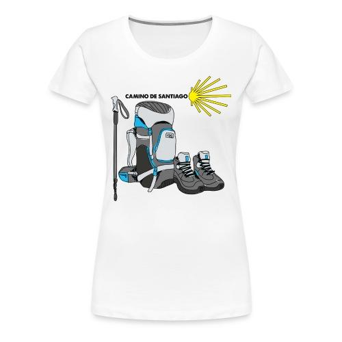 WHITE TEE MENS HIKER png - Women's Premium T-Shirt