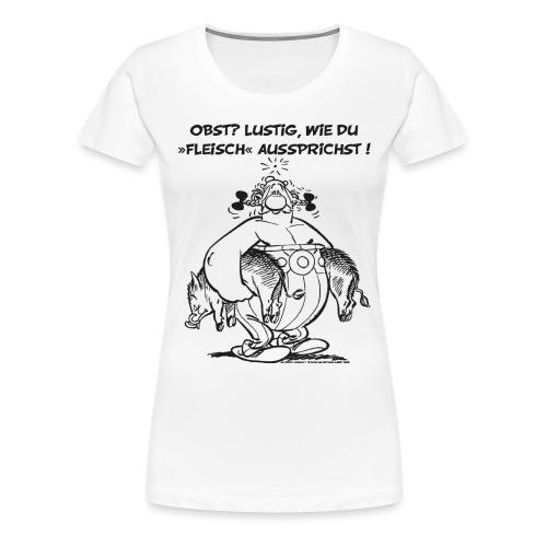 Asterix Obelix Obst Fleisch lineart - T-shirt Premium Femme