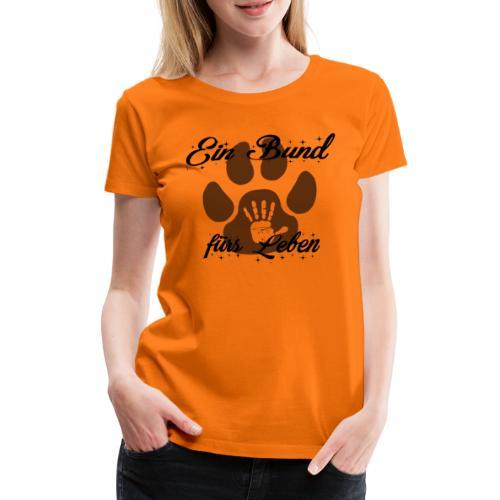 Hund und Mensch ein Bund für das Leben Freundschaf - Frauen Premium T-Shirt