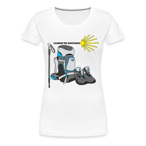WHITE TEE MENS HIKER png - Women's Premium T-Shirt
