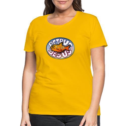 Petrus trifft Jesus Logo - Frauen Premium T-Shirt