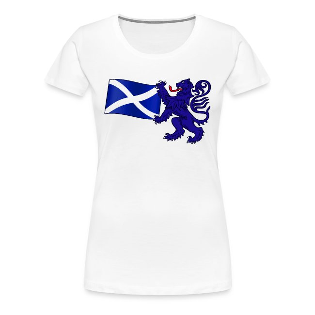 Mens Polo Shirt in Saltire with Small Rampant Lion Design in Navy Size Medium