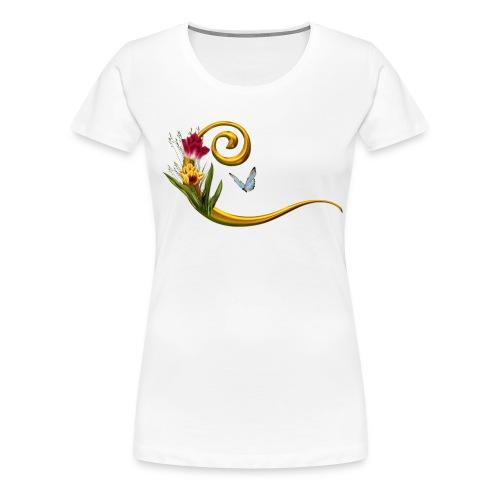Tulpe Schmetterling - Frauen Premium T-Shirt