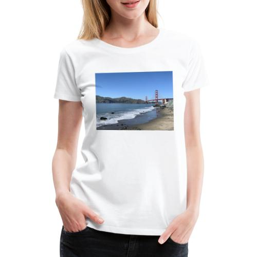 Marshalls Beach San Francisco Golden Gate Bridge - Frauen Premium T-Shirt