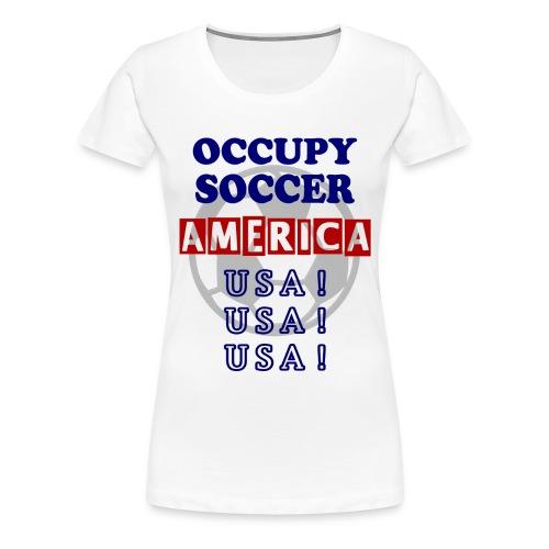 occupy soccer america - Women's Premium T-Shirt