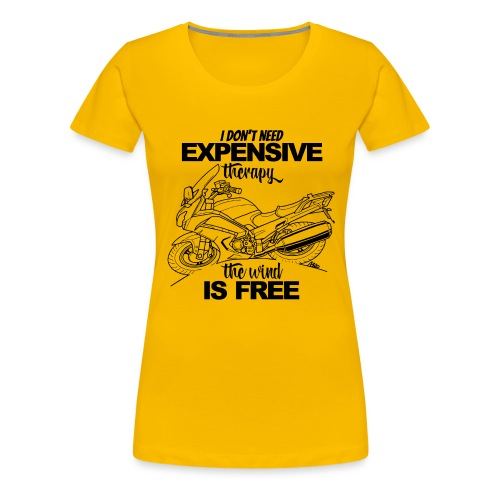 0881 FJR wind is free - Vrouwen Premium T-shirt