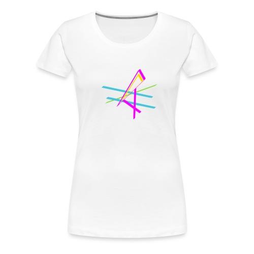 ligne multicolore - T-shirt Premium Femme