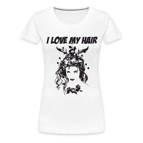ilovemyhair - Premium-T-shirt dam