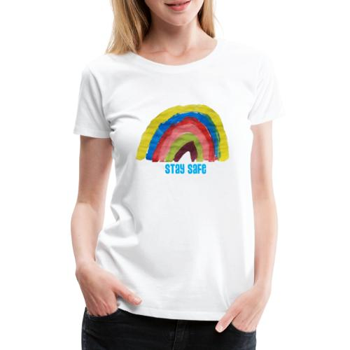 Stay Safe Rainbow Tshirt - Women's Premium T-Shirt