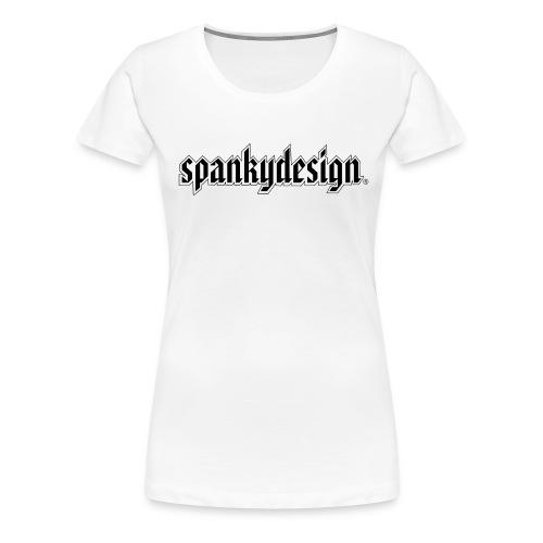 spankydesignlogoblackonwhite - Premium T-skjorte for kvinner