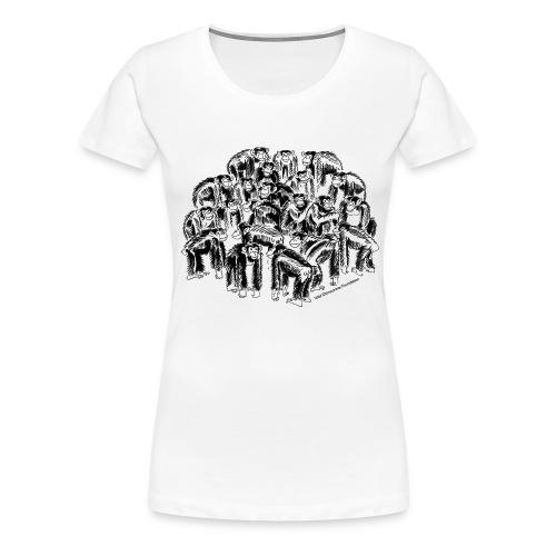 chimpanzee group - Women's Premium T-Shirt