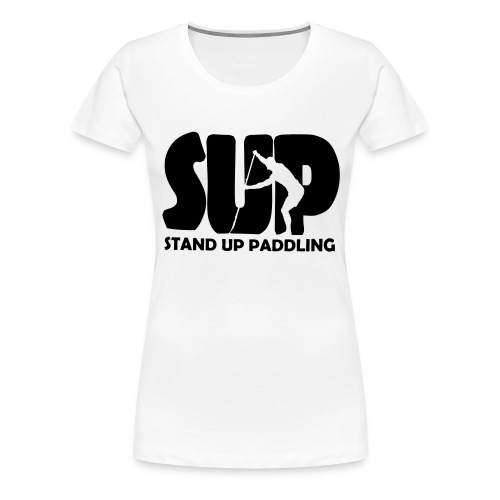 Stand Up Paddling Silouette - Frauen Premium T-Shirt