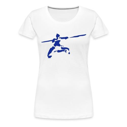 Kungfu stick fighter / ink - Women's Premium T-Shirt