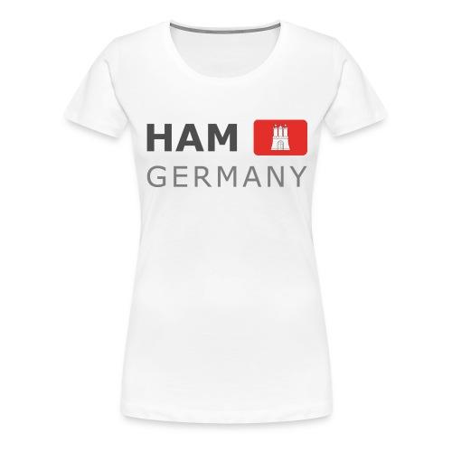 HAM GERMANY HHF dark-lettered 400 dpi - Women's Premium T-Shirt