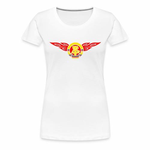 GDR flames crest 3c - Women's Premium T-Shirt