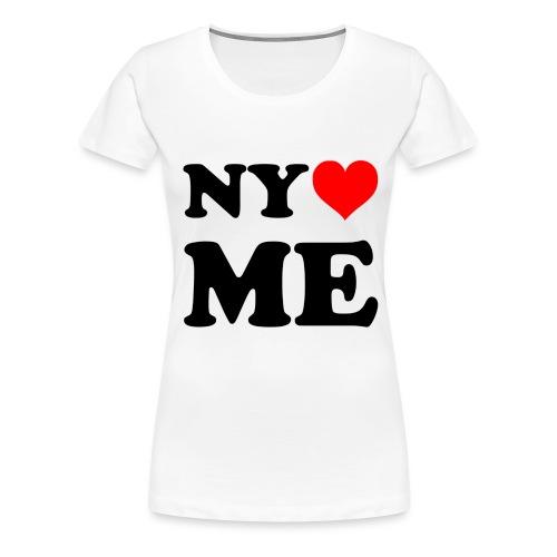 new york loves me - Frauen Premium T-Shirt