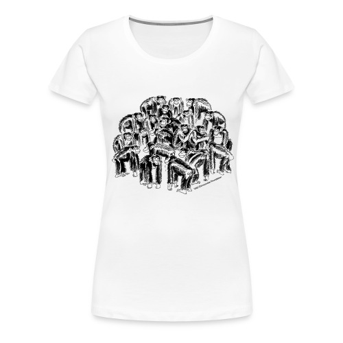 chimpanzee group - Women's Premium T-Shirt