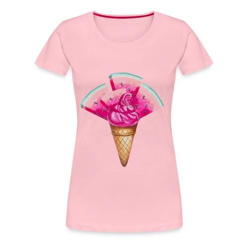 Eis Melone - Frauen Premium T-Shirt