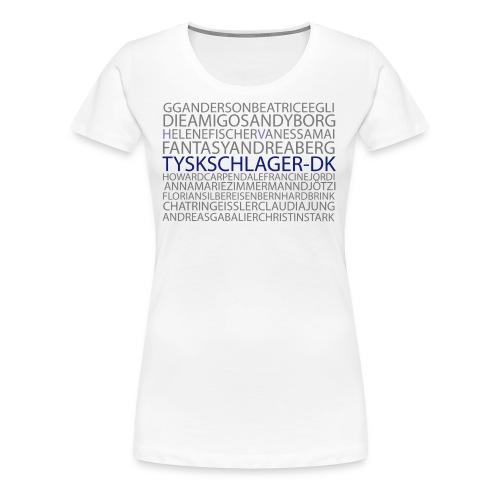 Schlagernavne - Dame premium T-shirt