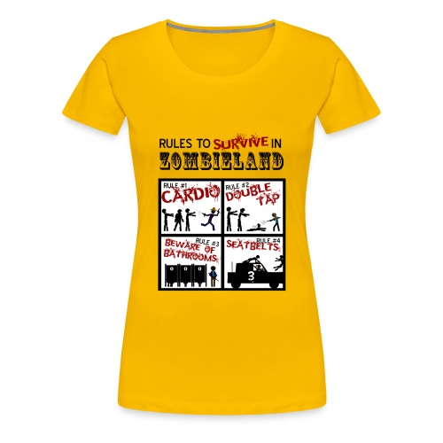 Zombieland rules to survive - Camiseta premium mujer