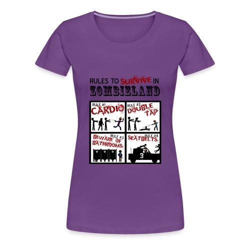Zombieland rules to survive - Camiseta premium mujer