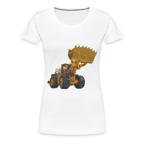 Old Mining Wheel Loader - Yellow - Women's Premium T-Shirt