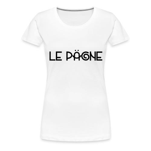 Le Pägne Logo Noir - T-shirt Premium Femme