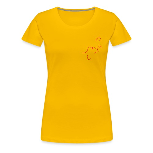 'I am here' (pocket) - Women's Premium T-Shirt