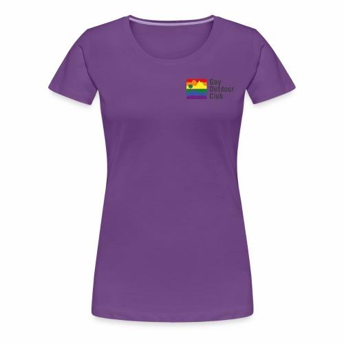 GOC Logo Black Text - Women's Premium T-Shirt