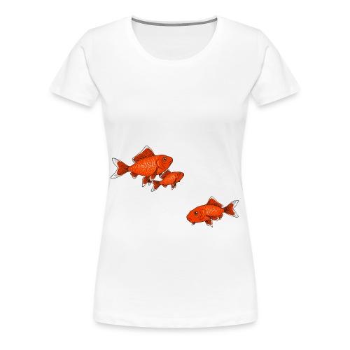 Poissons rouges - T-shirt Premium Femme