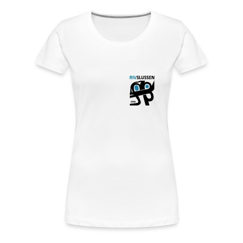 rivslussenblackblue resized for small - Premium-T-shirt dam