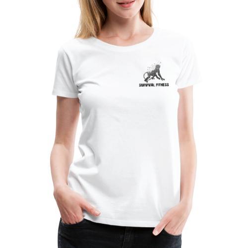 Survival Fitness Logo Schwarz - Frauen Premium T-Shirt