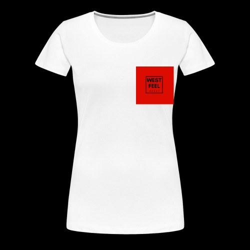 WEST FEEL logo rouge - T-shirt Premium Femme