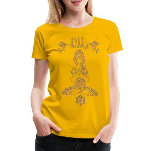 Yogagirl Hippie Boho Style OM - Frauen Premium T-Shirt