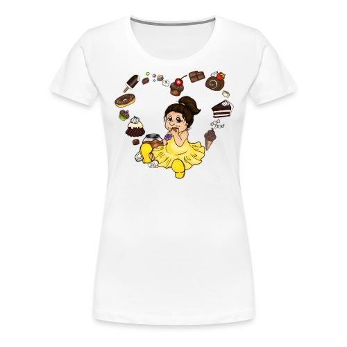 Schokoline und ihr süßer Traum - Frauen Premium T-Shirt