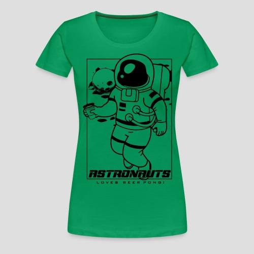 Astronauts loves Beerpong - Frauen Premium T-Shirt
